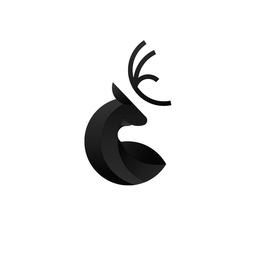 Blackdeer pidea logotipas